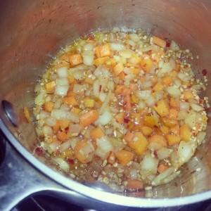 carrots onions